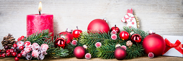Weihnachtsdeko für stressfreie Weihnachtsfeiertage