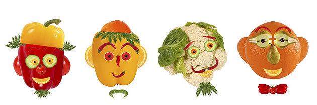 Lustiges Gemüse für Kinder