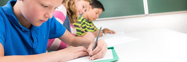 Schüler beim Lernen in der Schule