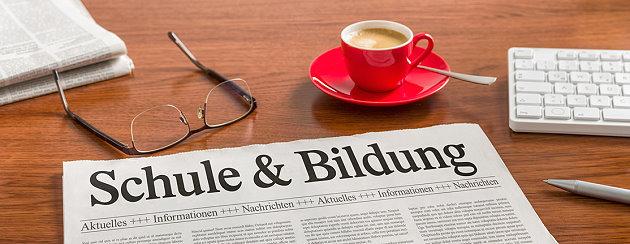 Zeitung zum Thema Schule und Bildung