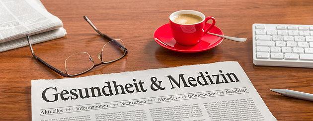 Zeitung mit Gesundheitsthemen