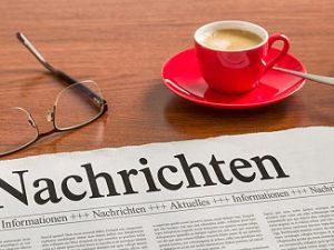 Zeitung mit Nachrichten