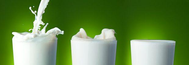 Einige Gläser Milch