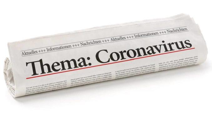 Zeitung zum Thema Coronavirus