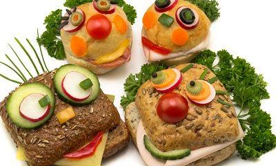 Gesunde Ernährung für Kinder: lustig belegte Brötchen