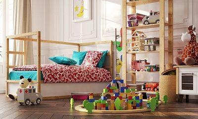 Kindermöbel in einem Kinderzimmer